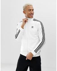 weiße und schwarze Bomberjacke von adidas Originals