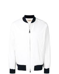 weiße und schwarze Bomberjacke von Maison Flaneur