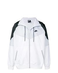 weiße und schwarze Bomberjacke von Nike