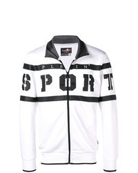 weiße und schwarze Bomberjacke von Plein Sport