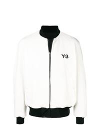 weiße und schwarze Bomberjacke von Y-3