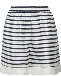 weiße und schwarze horizontal gestreifte Shorts von Dolce & Gabbana