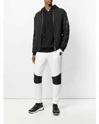 weiße und schwarze Jogginghose