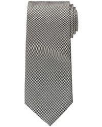 weiße und schwarze Krawatte mit Hahnentritt-Muster