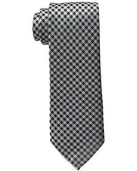 weiße und schwarze Krawatte mit Vichy-Muster