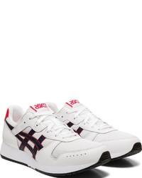 weiße und schwarze Leder niedrige Sneakers von ASICS SportStyle