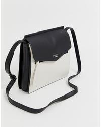 weiße und schwarze Leder Umhängetasche von Fiorelli
