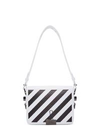 weiße und schwarze Leder Umhängetasche von Off-White