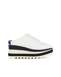 weiße und schwarze plateau Slippers von Stella McCartney
