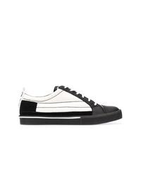 weiße und schwarze Segeltuch niedrige Sneakers von Diesel