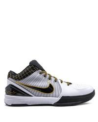 weiße und schwarze Segeltuch niedrige Sneakers von Nike