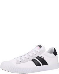 weiße und schwarze Segeltuch niedrige Sneakers von Palladium