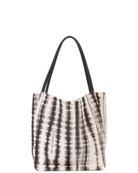 weiße und schwarze Shopper Tasche aus Leder von Proenza Schouler