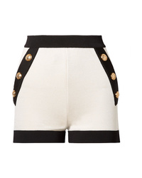 weiße und schwarze Shorts von Balmain