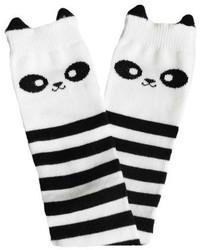 weiße und schwarze Socke