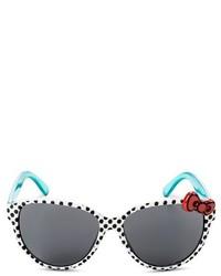 weiße und schwarze Sonnenbrille