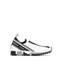 weiße und schwarze Sportschuhe von Dolce & Gabbana