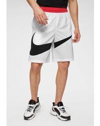 weiße und schwarze Sportshorts von Nike