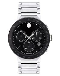 weiße und schwarze Uhr