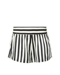 weiße und schwarze vertikal gestreifte Shorts von Morgan Lane