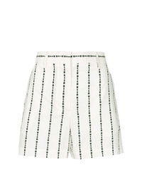 weiße und schwarze vertikal gestreifte Shorts von MSGM