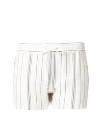 weiße vertikal gestreifte Shorts von See by Chloe