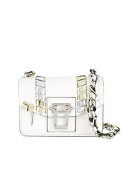 weiße verzierte Leder Umhängetasche von Proenza Schouler