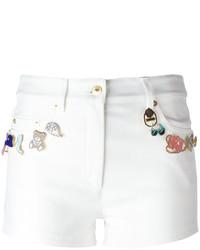 weiße verzierte Shorts von Moschino