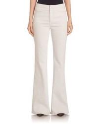 weiße weite Hose aus Jeans
