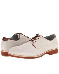 weiße Wildleder Derby Schuhe