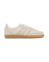 weiße Wildleder niedrige Sneakers mit Schlangenmuster von adidas Originals