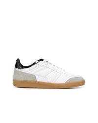 weiße Wildleder niedrige Sneakers von AMI Alexandre Mattiussi