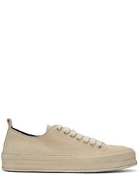 weiße Wildleder niedrige Sneakers von Ann Demeulemeester