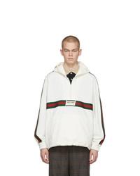 weiße Windjacke von Gucci