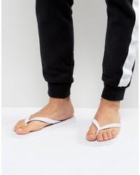 weiße Zehensandalen von Versace