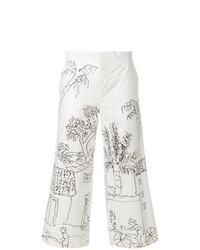 weißer bedruckter Hosenrock von Marni