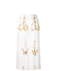 weißer bedruckter Hosenrock von Natasha Zinko