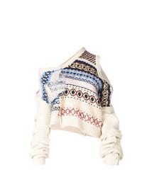 weißer bedruckter Oversize Pullover von Preen by Thornton Bregazzi