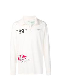 weißer bedruckter Polo Pullover von Off-White
