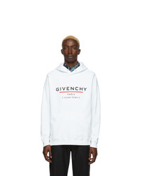 weißer bedruckter Pullover mit einem Kapuze von Givenchy