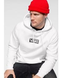 weißer bedruckter Pullover mit einem Kapuze von Vans