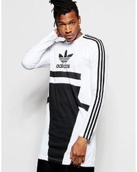 weißer bedruckter Pullover mit einem Rundhalsausschnitt von adidas