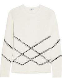 weißer bedruckter Pullover von Vince