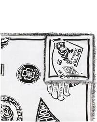 weißer bedruckter Schal von Diesel