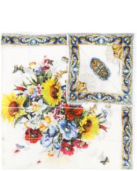 weißer bedruckter Schal von Dolce & Gabbana