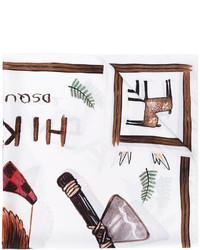 weißer bedruckter Schal von DSQUARED2
