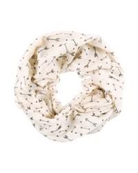 weißer bedruckter Schal von Even&Odd