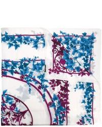 weißer bedruckter Schal von Versace