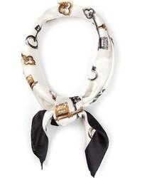 weißer bedruckter Seideschal von Dolce & Gabbana