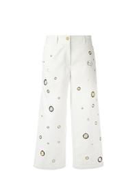 weißer bestickter Hosenrock von Kenzo